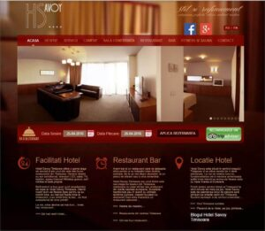 SEO si web design hotel Savoy