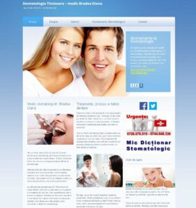 website prezentare cabinet stomatologic