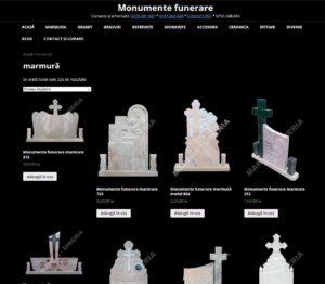 web design pentru monumente funerare